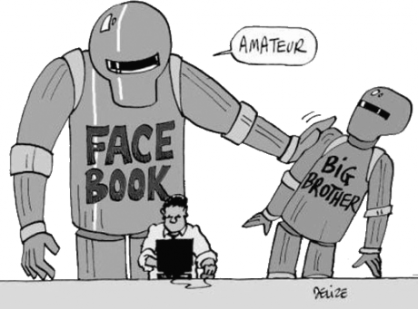 Dessin de Delize : Big Brother passe pour un amateur, comparativement à Facebook !